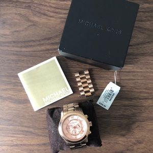 Michael Kore Oversized Rose Gold Watch